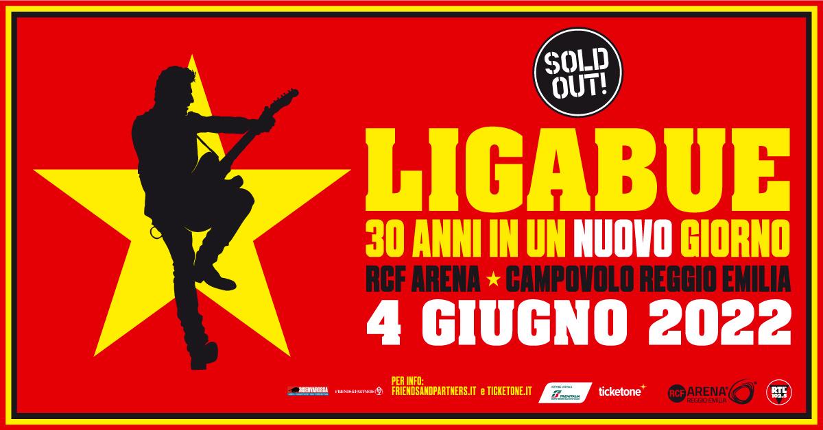 Ligabue: rinviato al 4 giugno 2022 il concerto alla RCF Arena